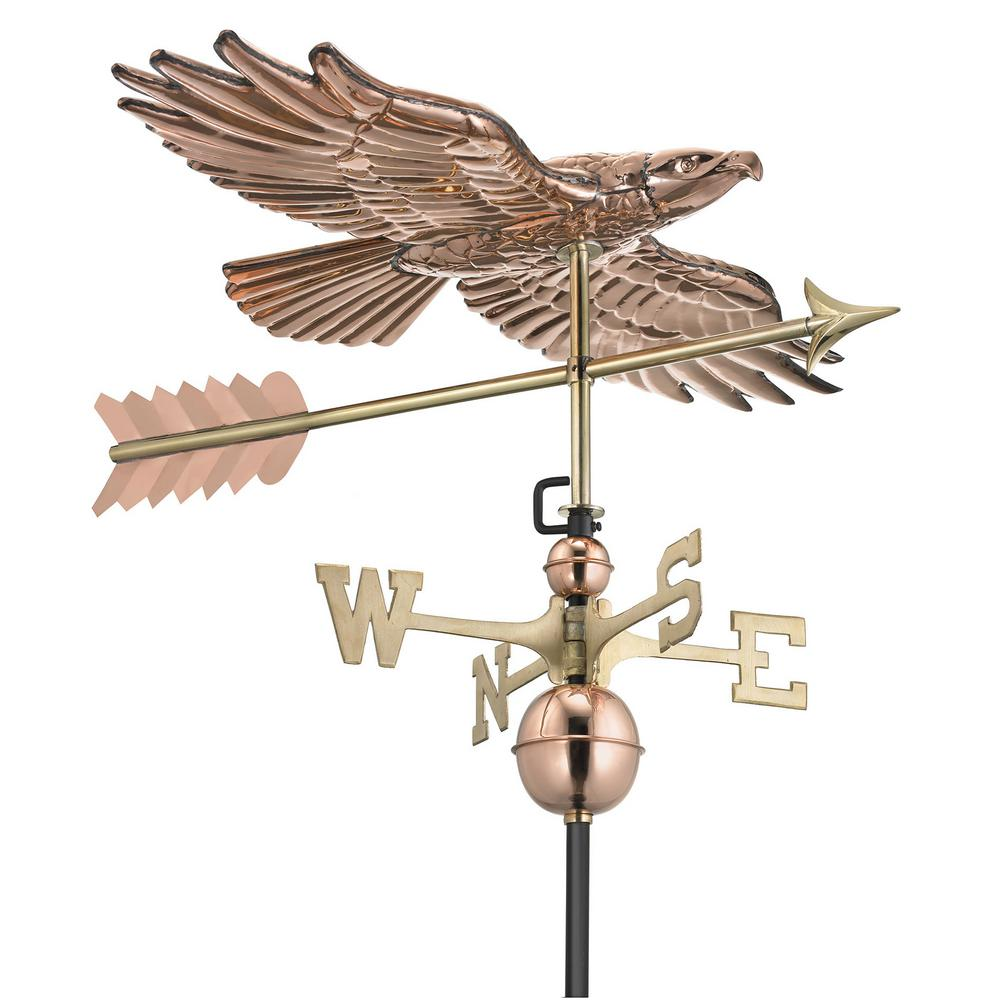 Soaring Hawk Weathervane - Pure Copper