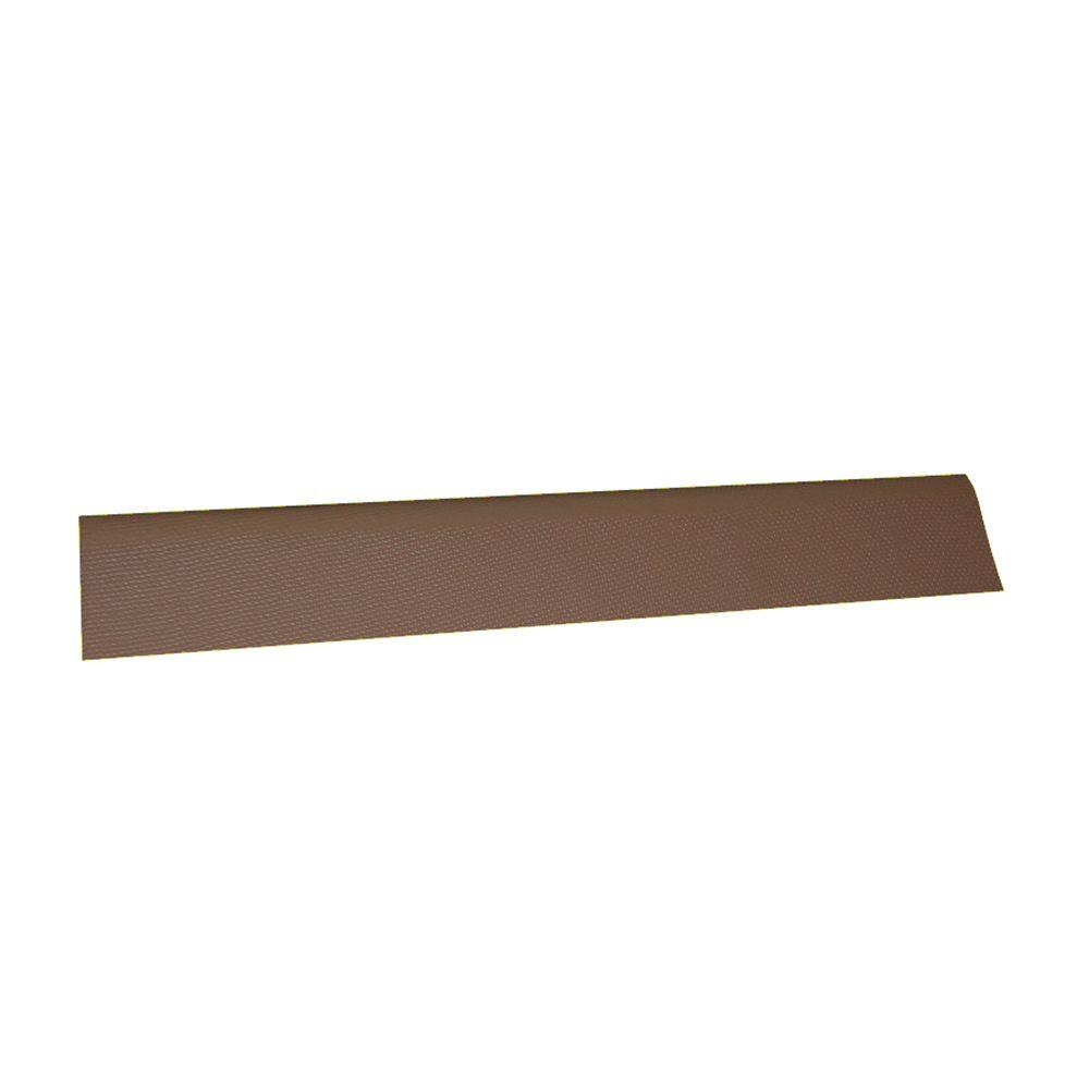 3-2/7 ft. x 12.5 in. Siena Brown Asphalt Roof Panel Universal Ridge Cap