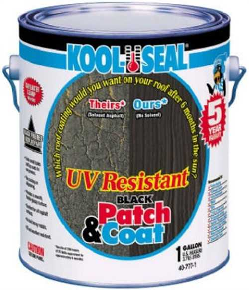 Kool Seal UV Resistant Black Patch & Coat 1-Gal