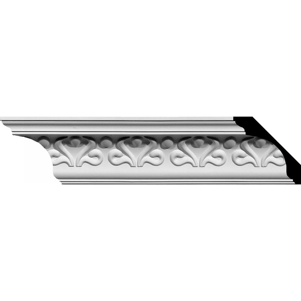 Ekena Millwork Polyurethane Crown Moldings/Read Crown Molding / 3 1/8'H x 3 1/8'P x 4 1/2'F x 94 5/8'