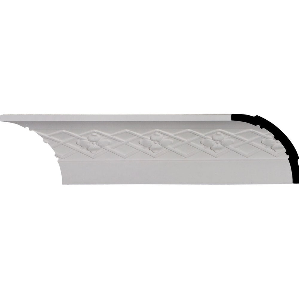 Ekena Millwork Polyurethane Crown Moldings/Brightton Crown Molding 3 3/4' Repeat / 3 1/2'H x 3 1/2'P x 5'F x 96 1/8'