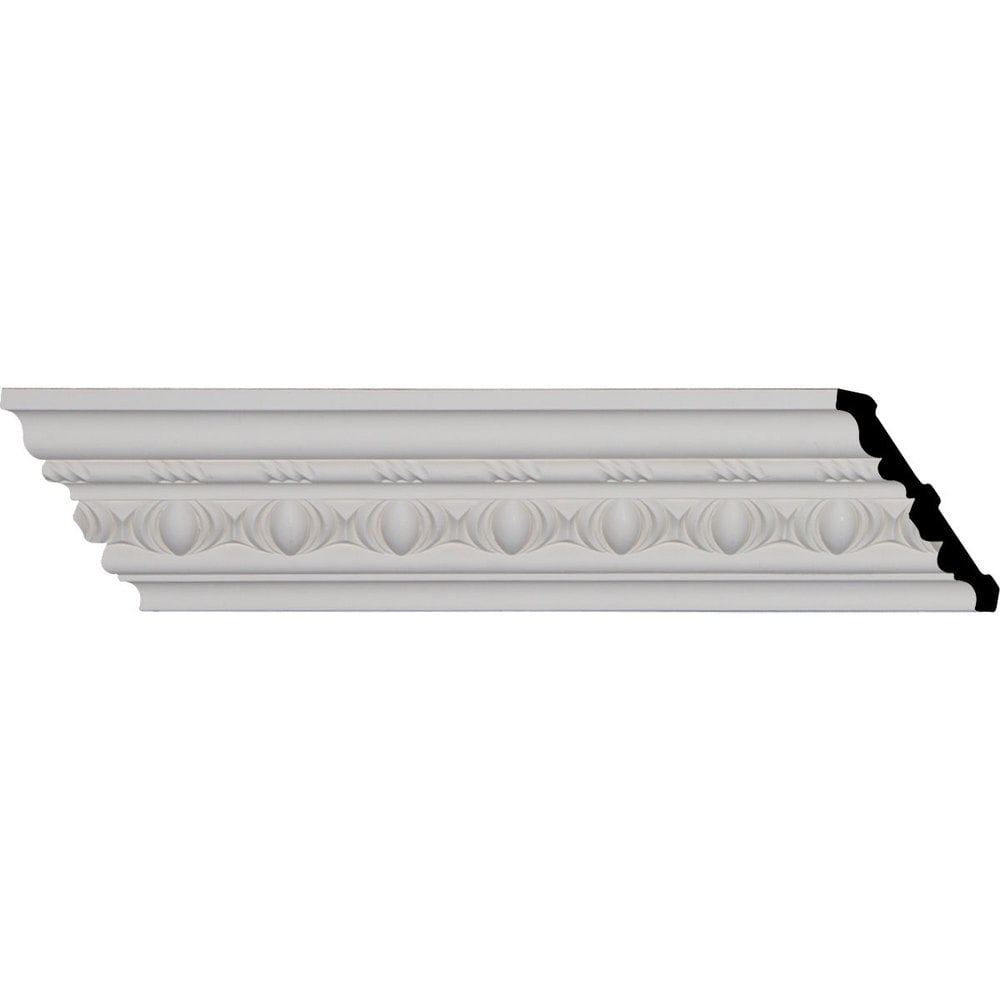 Ekena Millwork Polyurethane Crown Moldings/Jackson Egg and Dart Crown Molding 2 3/8' Repeat / 3 3/4'H x 3 7/8'P x 5 3/8'F x 94 1/4'