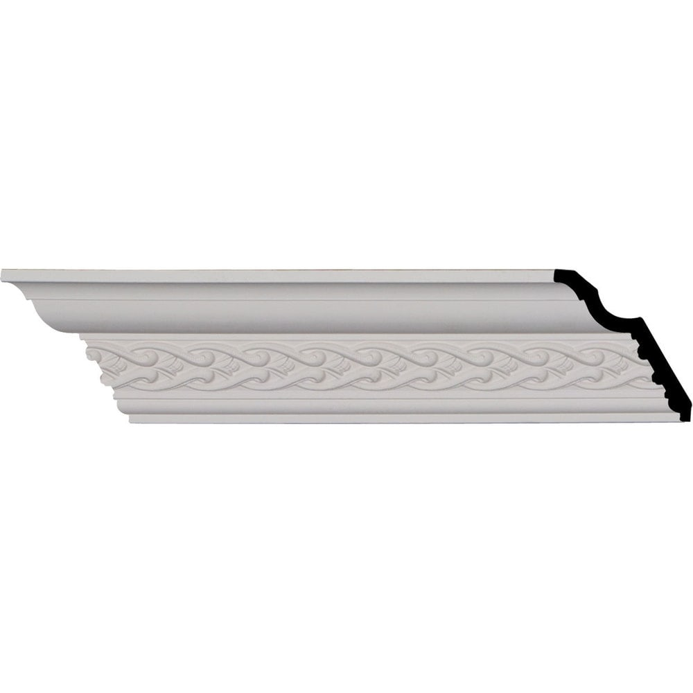Ekena Millwork Polyurethane Crown Moldings/Landon Crown Molding 1 3/8' Repeat / 3 1/2'H x 3 5/8'P x 5 1/8'F x 96 1/8'