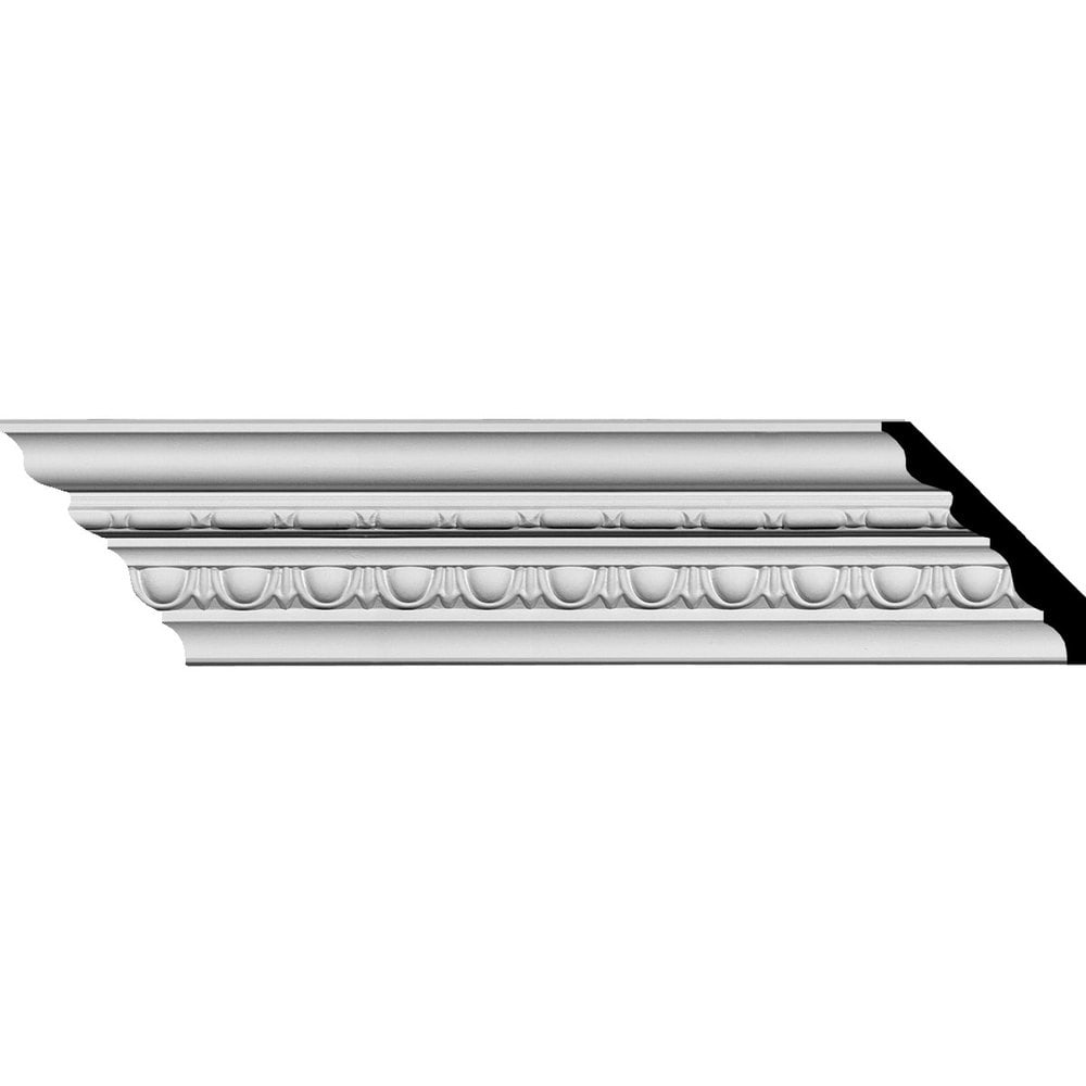 Ekena Millwork Polyurethane Crown Moldings/Stockport Traditional Crown Molding / 3 5/8'H x 3 3/8'P x 5'F x 94 5/8'