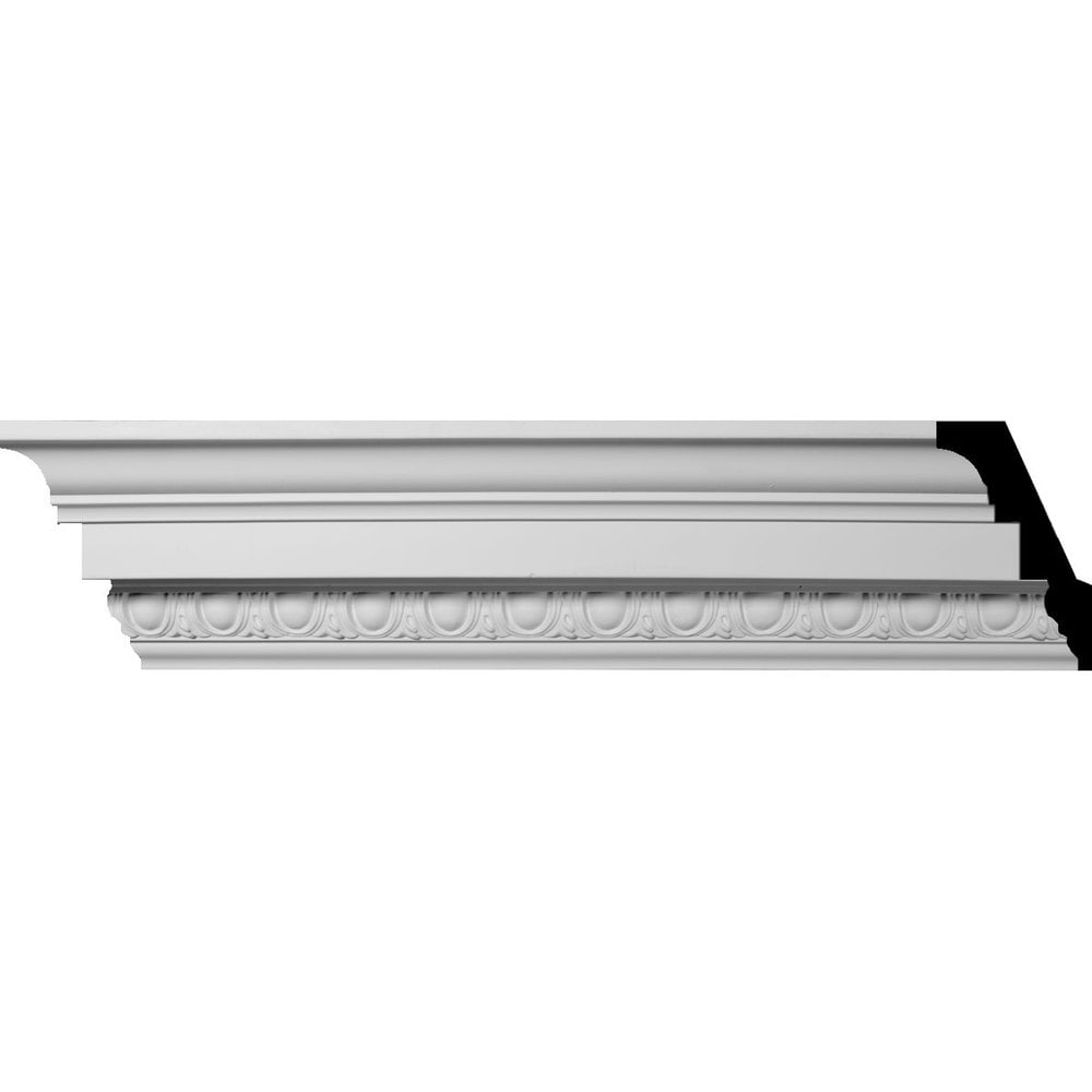 Ekena Millwork Polyurethane Crown Moldings/Sussex Egg & Dart Crown Molding / 3 1/2'H x 3 1/2'P x 5'F x 96'