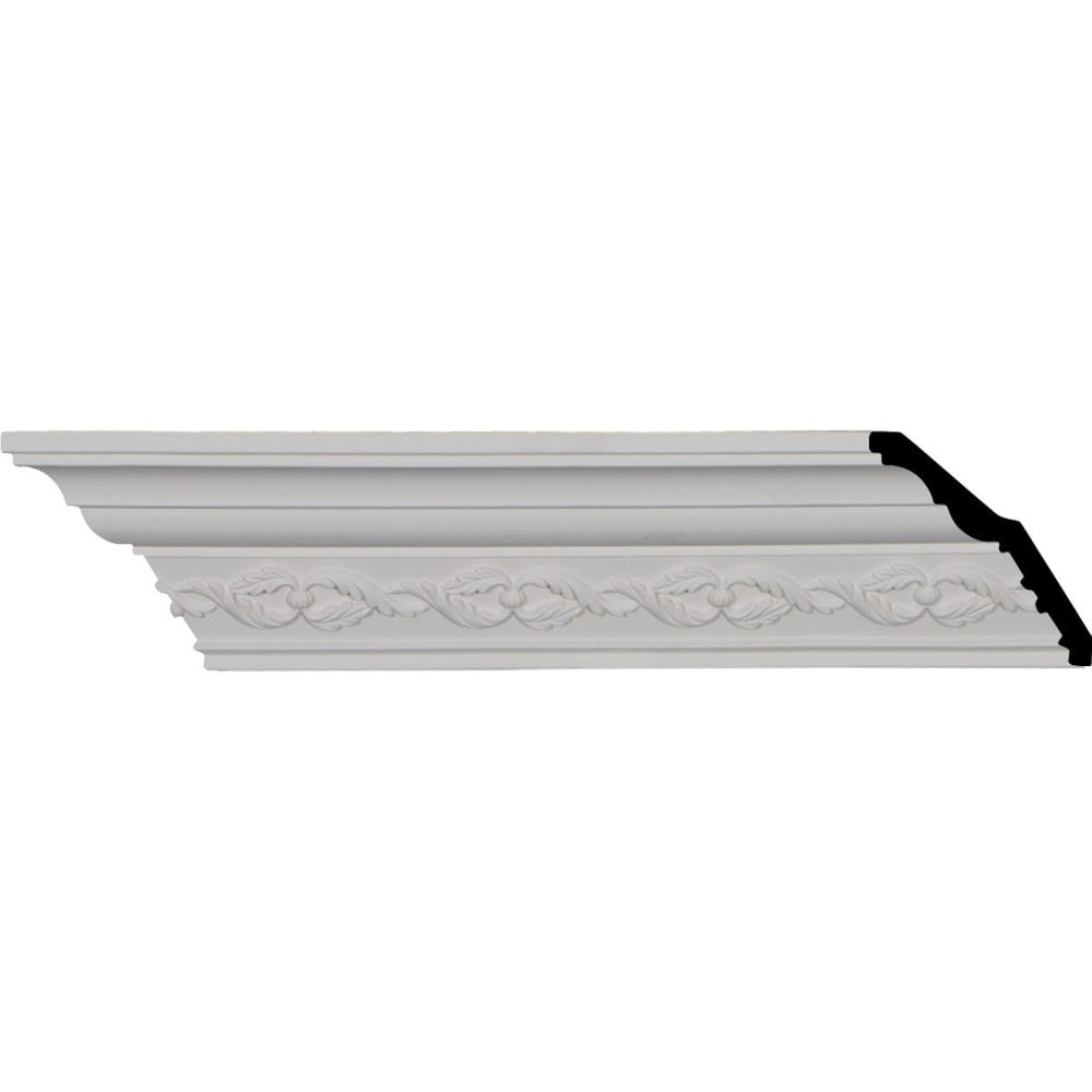 Ekena Millwork Polyurethane Crown Moldings/Washington Crown Molding 3 1/2' Repeat / 3 5/8'H x 3 5/8'P x 5 1/8'F x 95 3/4'