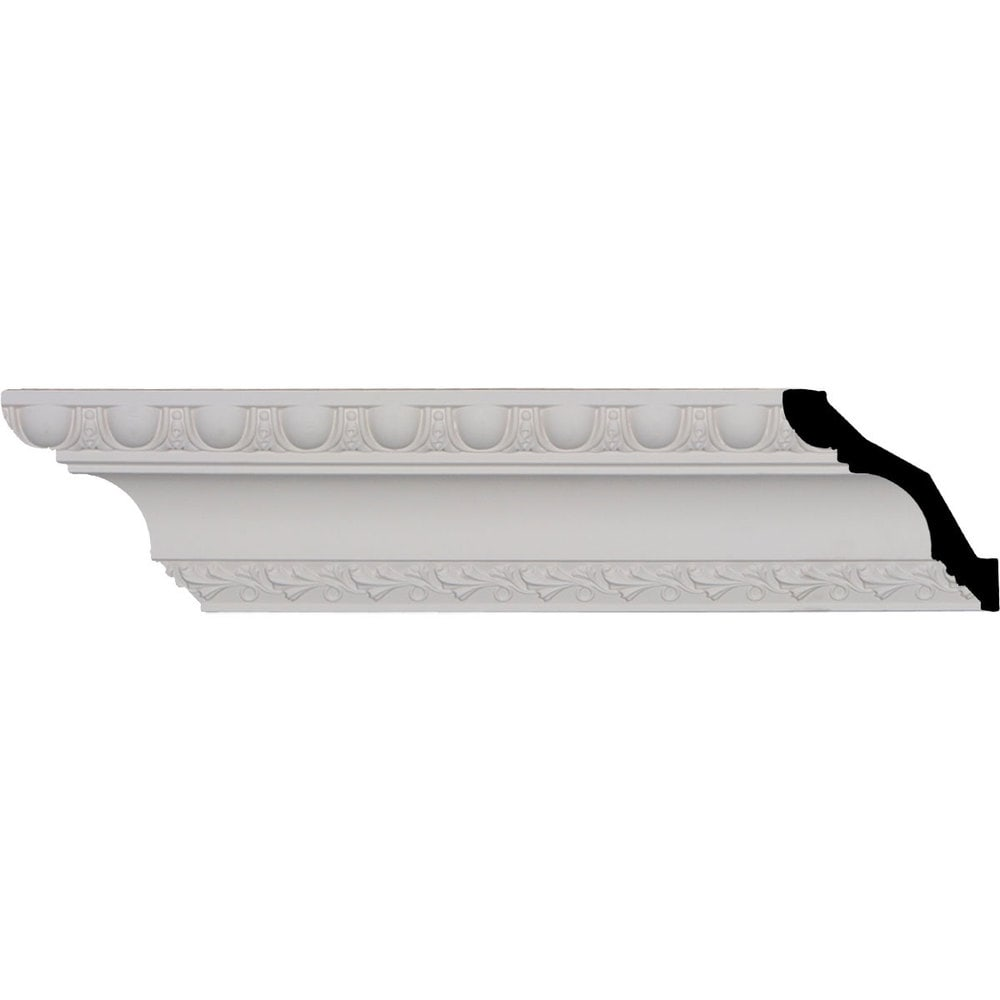 Ekena Millwork Polyurethane Crown Moldings/Egg & Dart Crown Molding 1 5/8' Repeat / 3 1/4'H x 3 1/4'P x 4 5/8'F x 96'