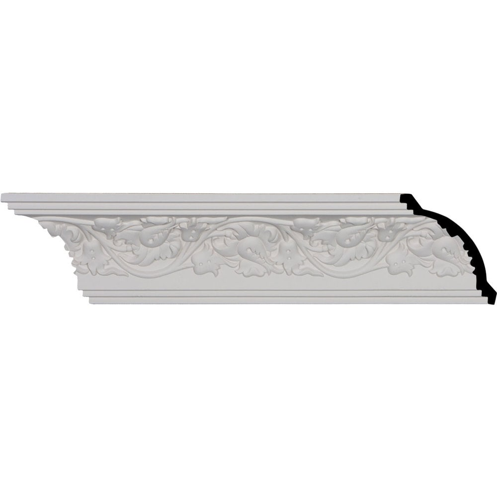 Ekena Millwork Polyurethane Crown Moldings/Rose Crown Molding 8' Repeat / 3 7/8'H x 4'P x 5 5/8'F x 96'
