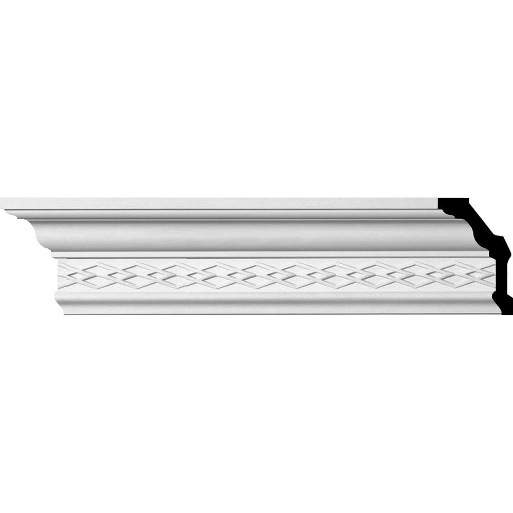 Ekena Millwork Polyurethane Crown Moldings/Robin Crown Molding 2 3/4' Repeat / 4 1/8'H x 2 3/8'P x 4 7/8'F x 94 1/2'