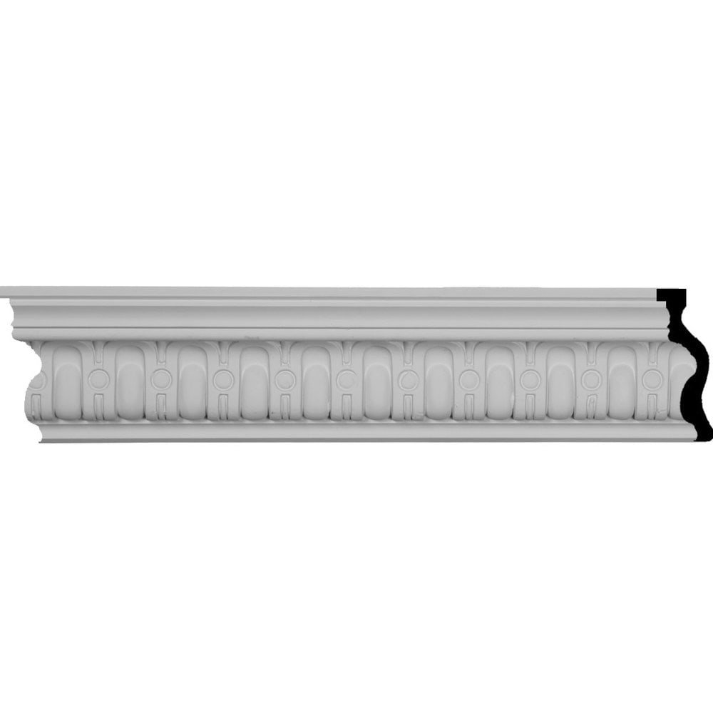 Ekena Millwork Polyurethane Crown Moldings/Sequential Crown Molding 1 5/8' Repeat / 4'H x 2 1/8'P x 4 1/2'F x 94 1/2'