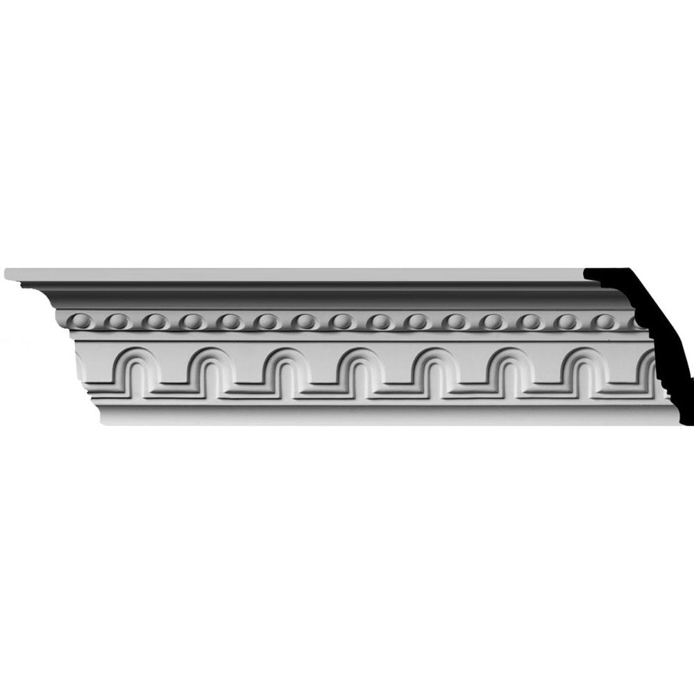 Ekena Millwork Polyurethane Crown Moldings/Heaton Crown Molding 2' Repeat / 4 3/8'H x 2 7/8'P x 5 1/4'F x 96'