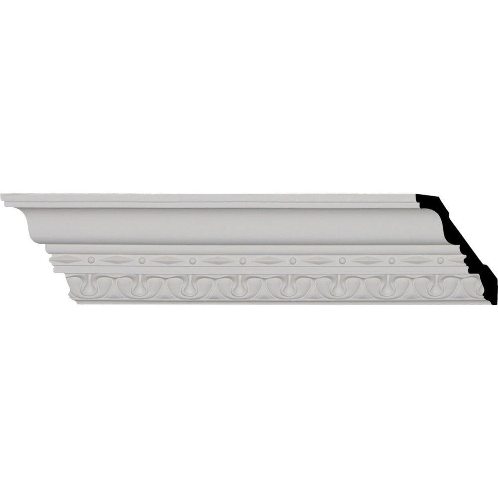 Ekena Millwork Polyurethane Crown Moldings/Leslie Crown Molding 1 7/8' Repeat / 4'H x 3 1/4'P x 5 1/8'F x 96 1/8'