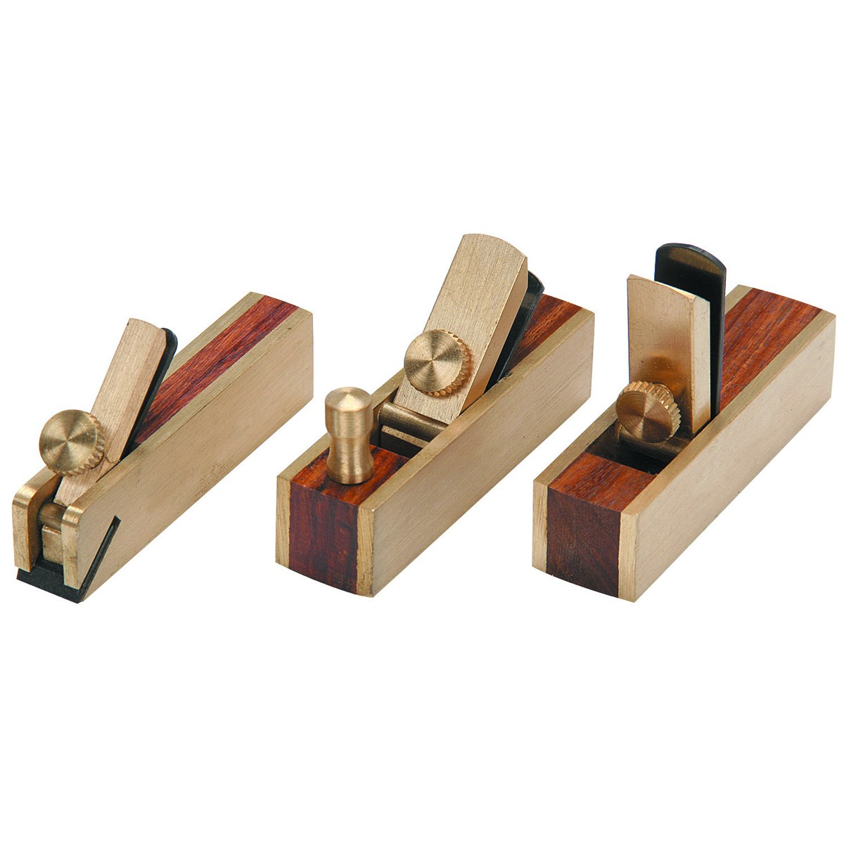 Mini Brass Plane Set 3 Pc