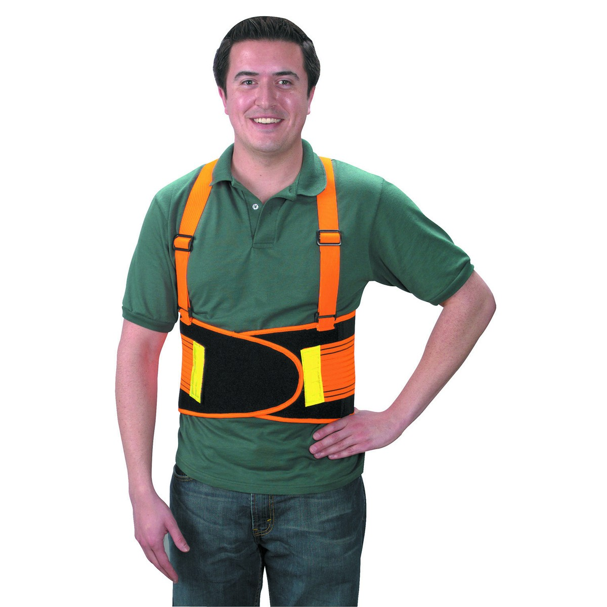 Back Support Belt with Reflector, Large