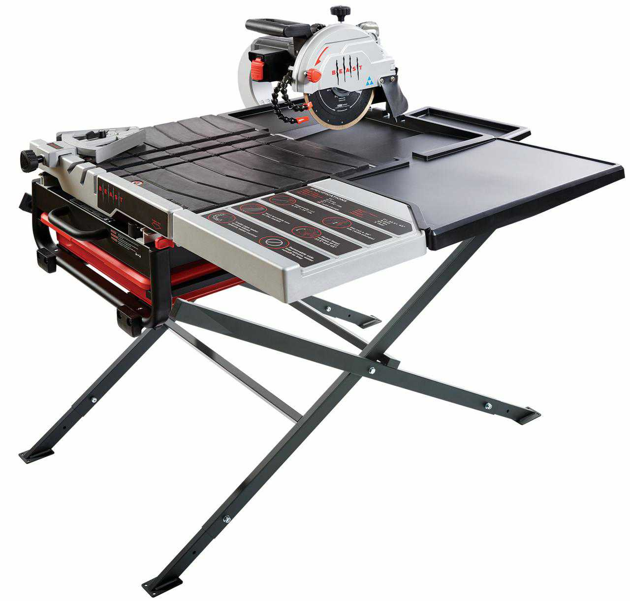 10' Wet Tile Saw Kit W/Scissor Stand